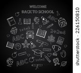 back to school chalkboard... | Shutterstock . vector #226150810
