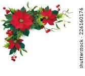 christmas decoration on white.... | Shutterstock .eps vector #226160176