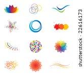 colorful brand identity design...   Shutterstock .eps vector #22616173