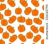 vector cute seamless pumpkin... | Shutterstock .eps vector #226163794