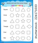 identify and color the correct... | Shutterstock .eps vector #226171033