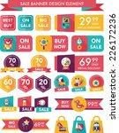 toy sale banner design flat... | Shutterstock .eps vector #226172236