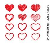 red vector heart | Shutterstock .eps vector #226172698