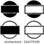 set of grunge rubber texture... | Shutterstock .eps vector #226179100