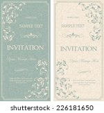 set of antique greeting cards ... | Shutterstock .eps vector #226181650