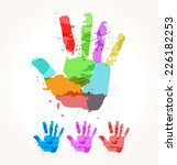 the abstract image of a hand of ... | Shutterstock .eps vector #226182253