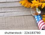 fourth of july table setting on ... | Shutterstock . vector #226183780