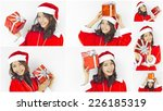 Collage Of Asian Santa Claus...
