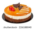 chocolate cake with caramel on...   Shutterstock . vector #226188040