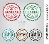 vector   genuine high quality...   Shutterstock .eps vector #226191370