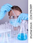 laboratory assistant making...   Shutterstock . vector #226196389