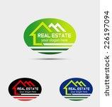 real estate logo template design | Shutterstock .eps vector #226197094