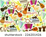 classical musical instruments...   Shutterstock .eps vector #226201426