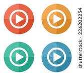 play button web icon   flat... | Shutterstock .eps vector #226202254