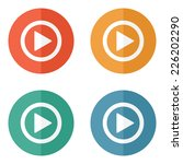 play button web icon   flat... | Shutterstock .eps vector #226202290