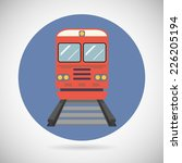 railway train transport... | Shutterstock .eps vector #226205194