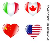 set of hearts in colours of... | Shutterstock .eps vector #226205923