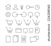 line icon set. trendy thin and ...
