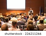 Speaker At Business Conference...