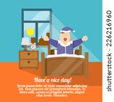 have a nice day poster with... | Shutterstock .eps vector #226216960