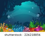 illustration of under the sea... | Shutterstock .eps vector #226218856
