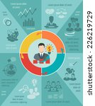 business meeting infographic... | Shutterstock .eps vector #226219729