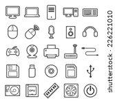 computer icon | Shutterstock .eps vector #226221010