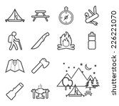 camping equipment icon | Shutterstock .eps vector #226221070