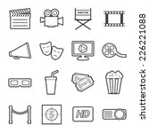 cinema icon   Shutterstock .eps vector #226221088