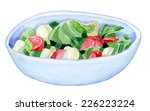bright handmade bowl with a... | Shutterstock .eps vector #226223224