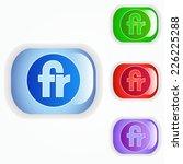fr sign icon | Shutterstock .eps vector #226225288