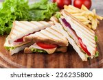 sandwich with bacon and... | Shutterstock . vector #226235800