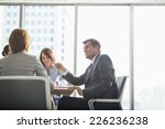 businessman discussing with... | Shutterstock . vector #226236238
