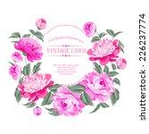 luxurious vintage frame of... | Shutterstock .eps vector #226237774