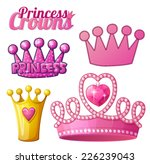 set  of princess crowns... | Shutterstock .eps vector #226239043