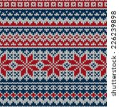 winter holiday seamless knitted ... | Shutterstock .eps vector #226239898