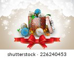new year gift box with bubbles | Shutterstock . vector #226240453