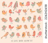 33 Cute Birds In Pastel Pink...