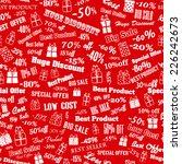 seamless pattern on discounts... | Shutterstock .eps vector #226242673