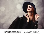 style redhead girl with... | Shutterstock . vector #226247314