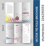 tri fold brochure design... | Shutterstock .eps vector #226250353