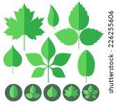 leaf. icon set. vector... | Shutterstock .eps vector #226255606