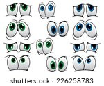 blue and green cartoon eyes... | Shutterstock .eps vector #226258783