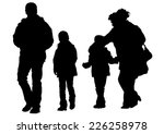 families people with little... | Shutterstock . vector #226258978