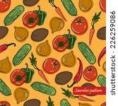 vector seamless vegetables...   Shutterstock .eps vector #226259086