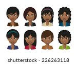 illustration of a indian woman... | Shutterstock .eps vector #226263118