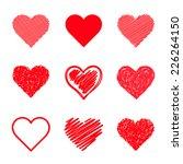 set of vector hearts   Shutterstock .eps vector #226264150