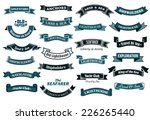 Nautical , marine and maritime themed ribbon banners with various text in shades of blue, vector illustration isolated on white | Shutterstock vector #226265440