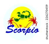 zodiac sign with palm trees... | Shutterstock .eps vector #226270459