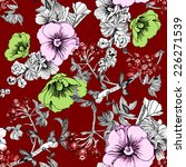 floral seamless pattern with... | Shutterstock .eps vector #226271539